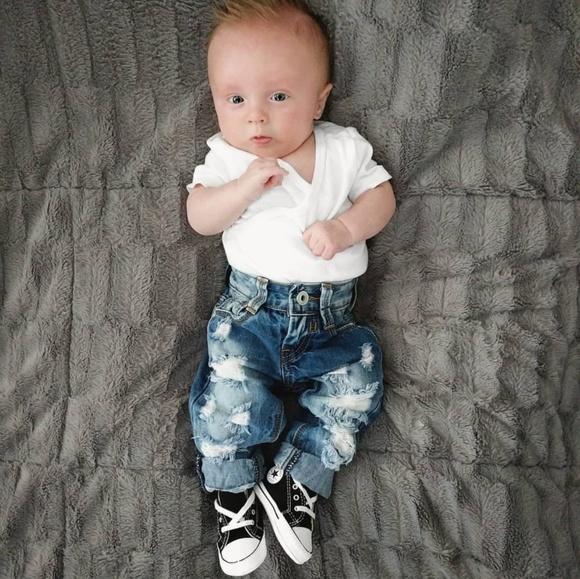 de7dcf575ae Baby Boy Distressed Ripped Trendy Jeans 3-6 Month.  M_5b50eec0a31c33bcddf20cb5